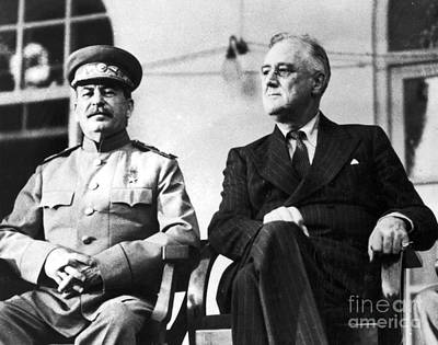 Dictator Photograph - Tehran Conference, 1943 by Granger