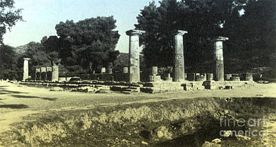 Zeus Photograph - Temple Of Zeus, Olympia, Greece by Photo Researchers