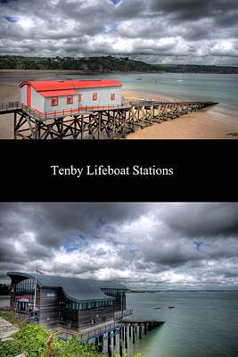Priska Wettstein Pink Hues - Tenby Lifeboat Stations by Steve Purnell