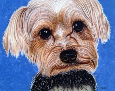 Painting - Terrier by Dan Menta