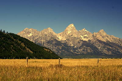 Art Print featuring the photograph Tetons 3 by Marty Koch