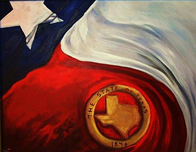 Texas Flag Art Print
