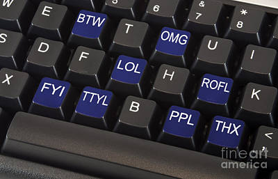 Text Message Keyboard Art Print