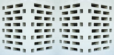 Many Shapes Photograph - Textured Angled Walls by Blink Images