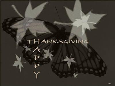 Thankful Holiday Card Art Print by Debra     Vatalaro