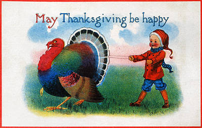 Photograph - Thanksgiving Card, 1900 by Granger