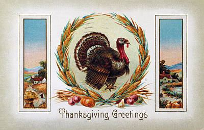 Photograph - Thanksgiving Card, 1910 by Granger