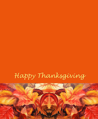 Painting - Thanksgiving Card by Irina Sztukowski