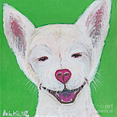 Teacup Chihuahua Painting - That Tickles by Ania M Milo