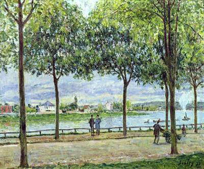 People Walking Painting - The Avenue Of Chestnut Trees by Alfred Sisley