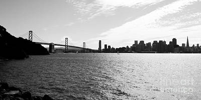 Photograph - The Bay Bridge And The San Francisco Skyline Viewed From Treasure Island . 7d7771 by Wingsdomain Art and Photography