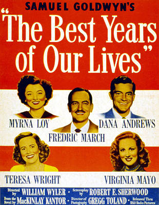 Films By William Wyler Photograph - The Best Years Of Our Lives, Myrna Loy by Everett