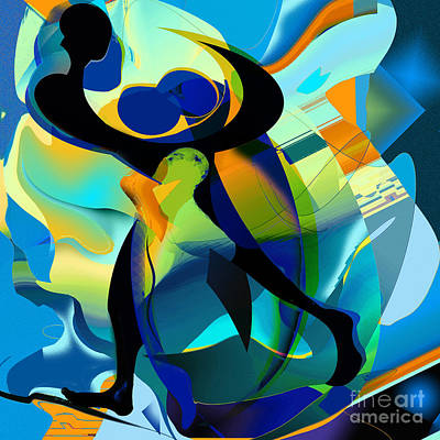 Couple Mixed Media - The Dance by Anne Weirich