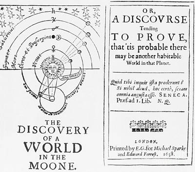 Speculation Photograph - The Discovery Of A World In The Moone by Science Source