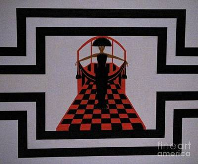 Runway Fashion Art Painting - The Diva by Leo Price