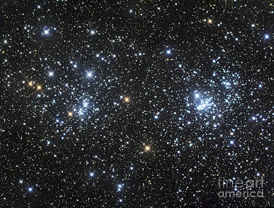 The Double Cluster, Ngc 884 And Ngc 869 Art Print by Robert Gendler