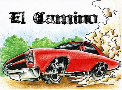 The El Camino Art Print by Big Mike Roate