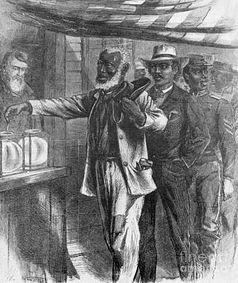 The First Vote, 1867 Art Print by Photo Researchers