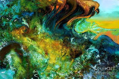 The Golden Wave  Art Print by Anne Weirich