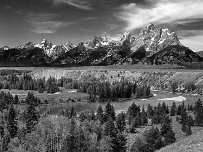 Photograph - The Grand Tetons And The Snake River by Ken Smith