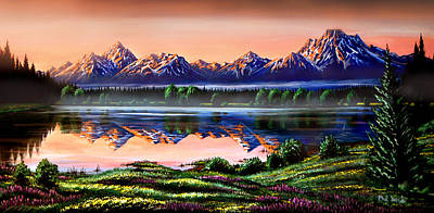 Photograph - The Grand Tetons by Phil Koch