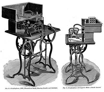 Dictaphones Photograph - The Graphophone, An Early Recording by Everett