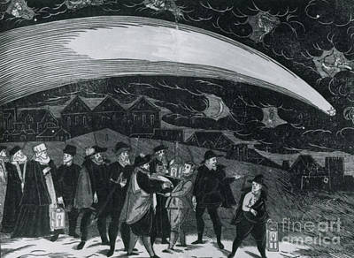 Prague Drawings Photograph - The Great Comet Of 1577 by Science Source
