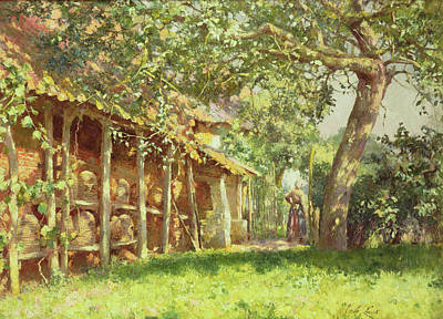 Encampment Painting - The Gypsy Camp by Harold Harvey