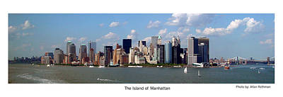 Photograph - The Island Of Manhattan by Allan Rothman