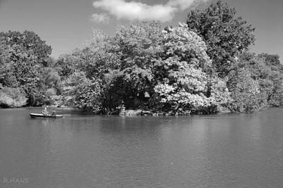 The Lake In Central Park Art Print