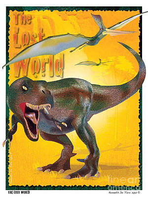 The Lost World Art Print by Kenneth De Tore