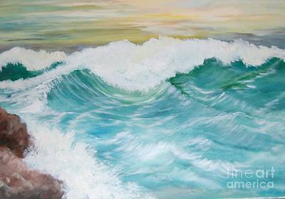 Painting - The Mighty Pacific by Janna Columbus