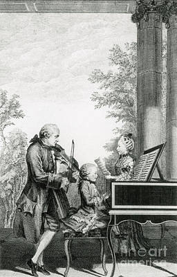 The Mozart Family On Tour, 1763 Print by Photo Researchers