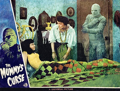 Horror Movies Photograph - The Mummys Curse, Virginia Christine by Everett
