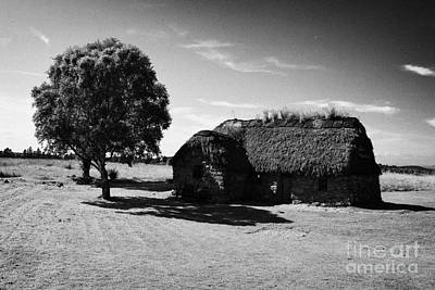 the old leanach cottage on Culloden moor battlefield site highlands scotland Art Print