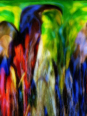 Abstract Digital Mixed Media - The Parrot by Steve K