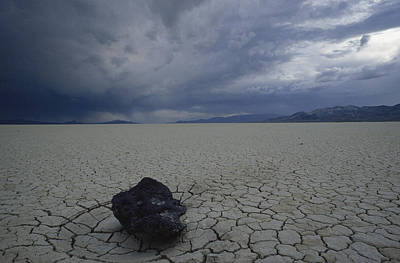 Dry Lake Photograph - The Perfectly Flat, Cracked Desert by James P. Blair