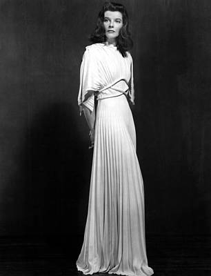 Gathered Dress Photograph - The Philadelphia Story, Katharine by Everett