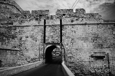 The Porta Di Limisso The Old Land Gate In The Old City Walls Famagusta Turkish Republic Cyprus Art Print by Joe Fox