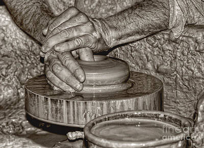 Colonial Photograph - The Potter 2 by Joann Vitali