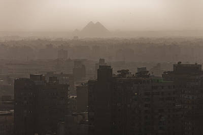 Ancient Apartments Photograph - The Pyramids Rise Over The Smog by Taylor S. Kennedy