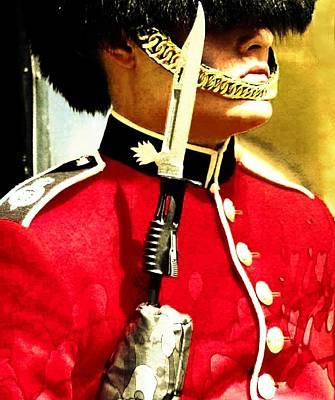 Digital Art - The Queens Guard by Carrie OBrien Sibley