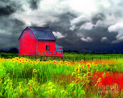 Photograph - The Red Barn by Gina Signore