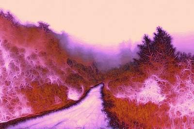The Red Weed  Art Print by Steve K
