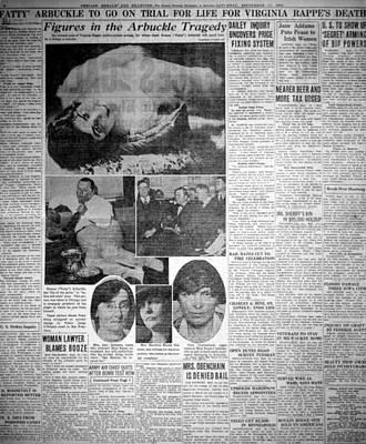The Roscoe Fatty Arbuckle Murder Case Print by Everett