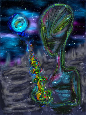 Science Fiction Mixed Media - The Seeding by Russell Pierce