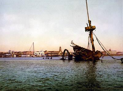 The Spanish American War. Wreck Art Print by Everett