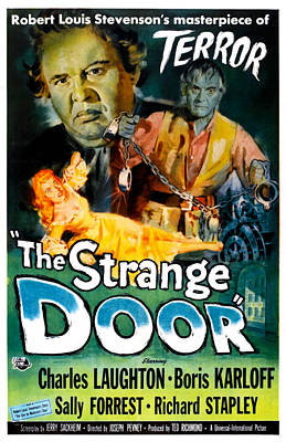 The Strange Door, Charles Laughton Art Print by Everett