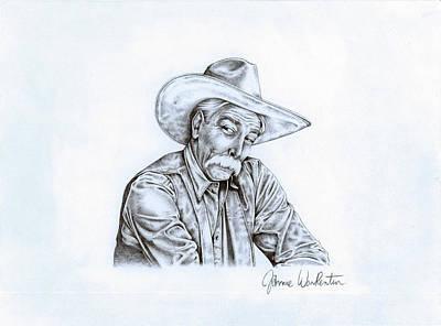 Lebowski Drawing - The Stranger by Jamie Warkentin