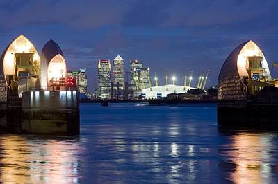 Flooding Photograph - The Thames Flood Barrier by Jeremy Walker